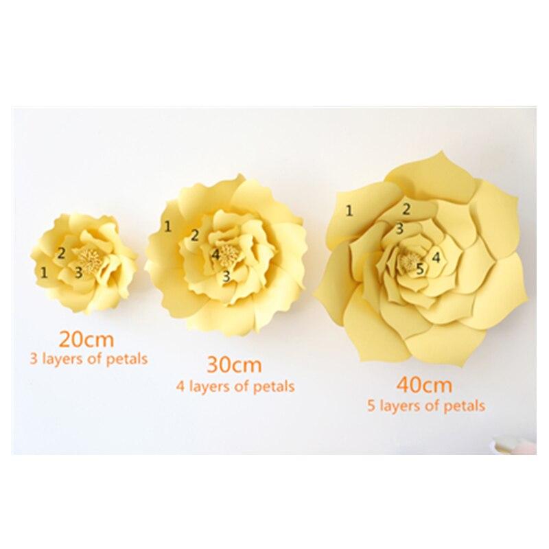 20cm DIY Paper flowers for photo backdrops home decor Wedding ...