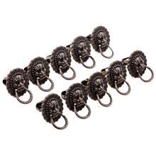 10Pcs 24x19mm Antique Brass Furniture Cabinet Knobs and Handles Vintage Bronze Door Ring Knob Jewelry Wooden Box Pull