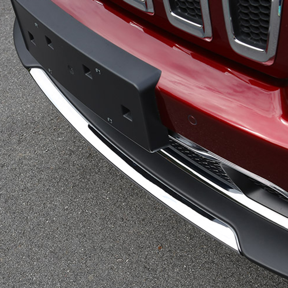chorm front bumper Lip cover trim for 2014 2015 JEEP Cherokee 18pcs chrome interior ac outlet trim cup holder roof light handle cover armrest wheel trim frame cover for jeep cherokee 2014 15