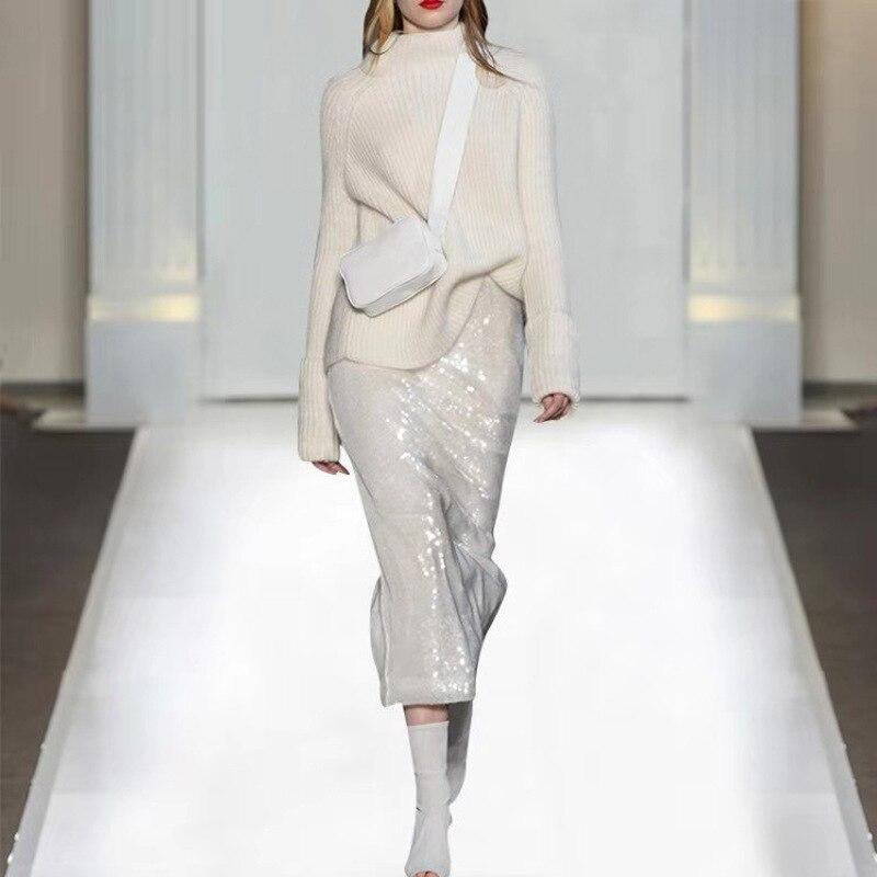 ฤดูใบไม้ร่วงฤดูใบไม้ผลิผู้หญิงที่สวยงาม Casual Luxury Twin ชุดเสื้อสีขาว Sequnied กระโปรงแฟชั่น Lady Chic 2 ชิ้นชุด-ใน ชุดสตรี จาก เสื้อผ้าสตรี บน AliExpress - 11.11_สิบเอ็ด สิบเอ็ดวันคนโสด 1
