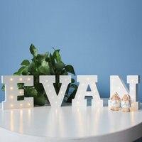 10pcs N Shape Letter Night Light 3D Led Lamp Nightlight Marquee Letter Gift Toys Bedroom Decor For Kids Baby