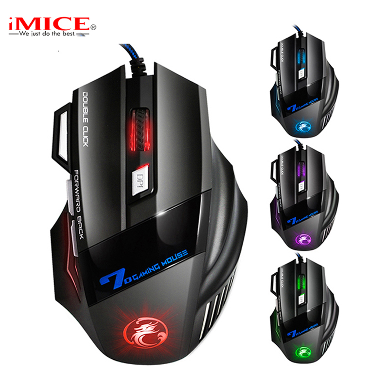 Professionale Doppio Click 7 Pulsanti 3200 DPI Gaming Mouse USB Wired Optical Computer Game Mouse Mouse per PC Laptop per CSGO LOL