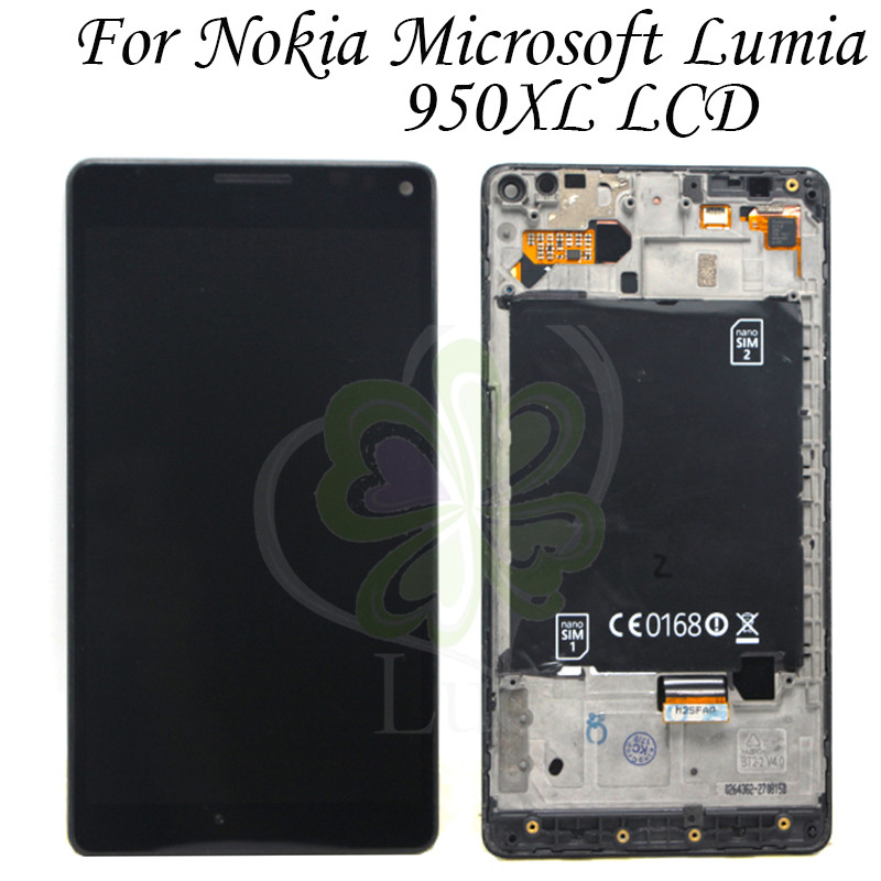 """Black 5.7"""" For Microsoft Nokia Lumia 950Xl LCD Display Touch Screen Digitizer Assembly With Frame For Lumia 950 Xl LCD"""