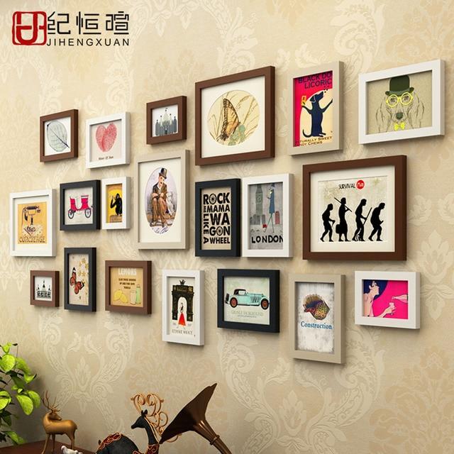 20 Teile/satz Moderne Holz Fotowand Mode Kreative Bilderrahmen Wohnzimmer/ Schlafzimmer Dekorative Kombination Oder