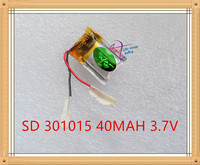 301015 40mah Bluetooth Headset 3D Self Dry Polymer Lithium Battery Manufacturers Selling Glasses