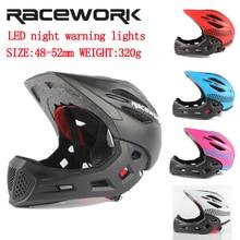 Racework 2-7 Year Old Full Covered Kid Helmet Balance Bike Children Motorcycle 320G Sport Safety Helmets