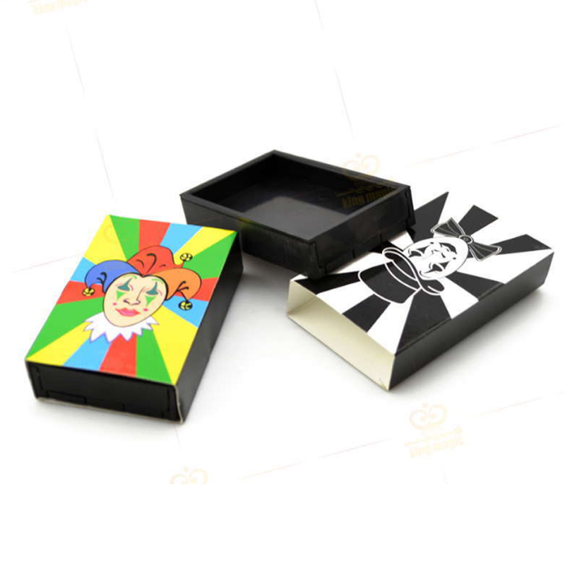 2 Pcs/set Cute Clown Synchro Boxes king Magic Props Funny Magicina Toys Match Box Gimmick Magic Tricks
