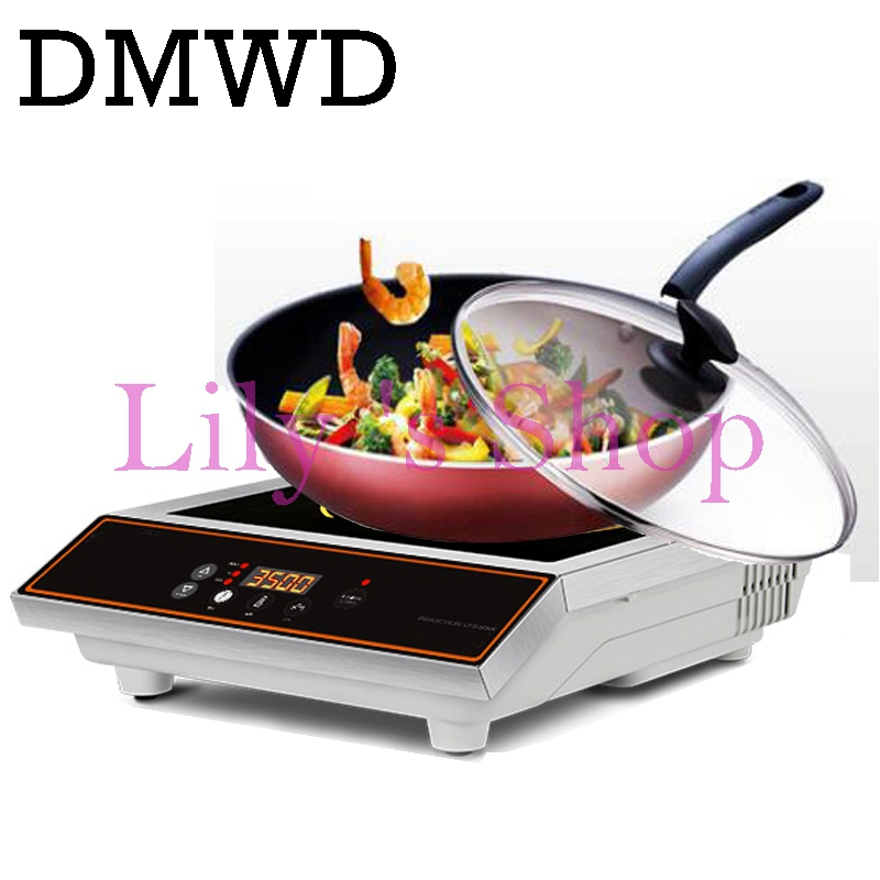 dmwd commercial 3500w plane electric induction cooker household waterproof mini hotpot cooktop small hot pot cooking