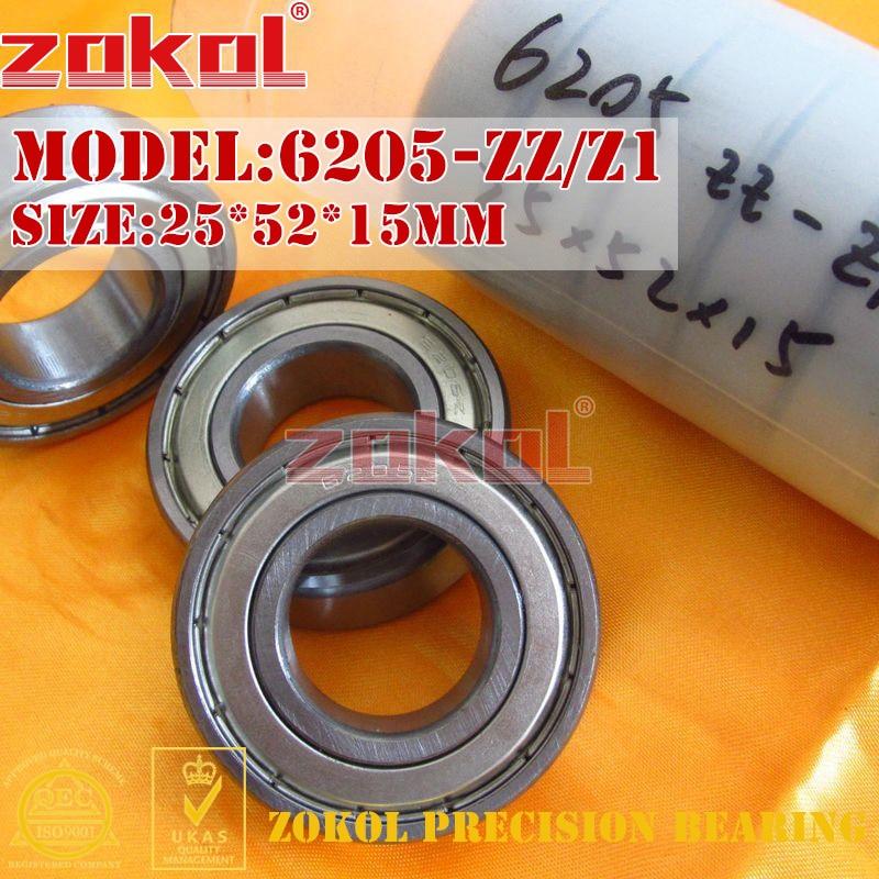 ZOKOL 6205ZZ Z1 bearing 6205 ZZ Z1 80205 Z1 6205Z Z1 Deep Groove ball bearing 25*52*15mm gcr15 6326 zz or 6326 2rs 130x280x58mm high precision deep groove ball bearings abec 1 p0