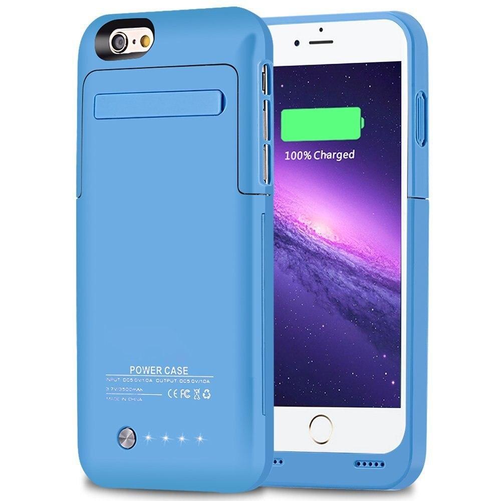 imágenes para External Slim para el iphone 6 6 s 4.7 pulgadas 3500 mAh Recargable Caja de Batería caso banco Caja de Batería de Protección para iPhone 6