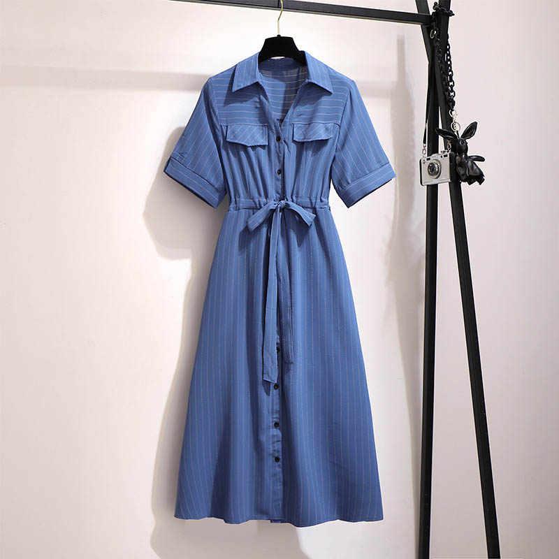 Sommer kleid frauen plus größe büste 146 cm 5XL 6XL 7XL 8XL 9XL kleid frauen blau weiß farben