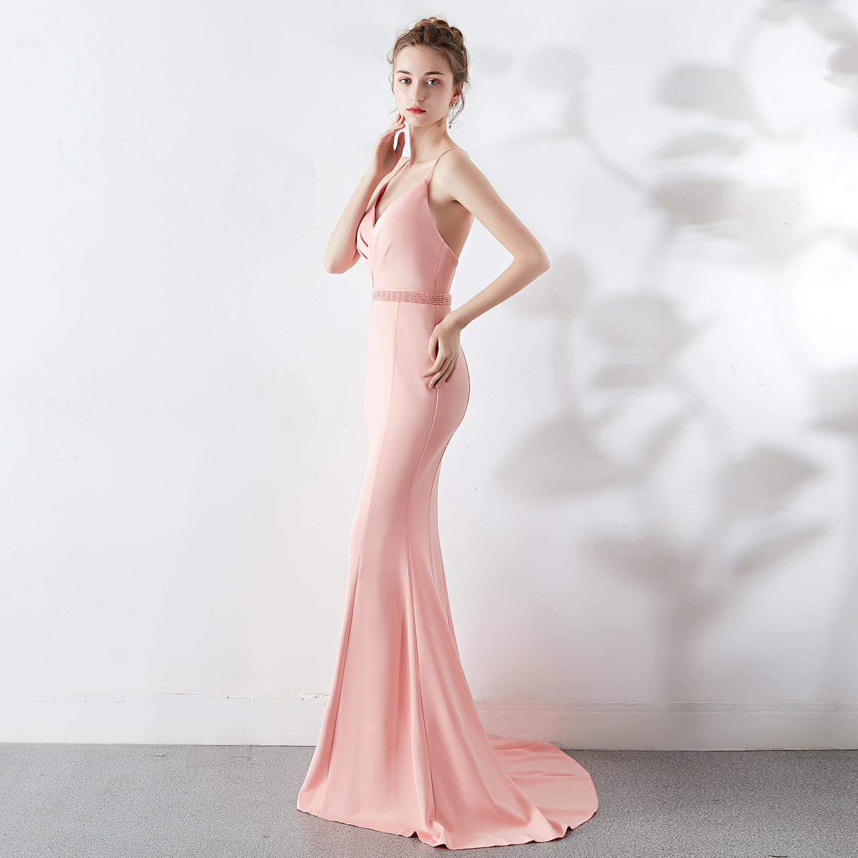 New 7color Sexy Slim Party   Dress   Mermaid Show Party Club Ladies   Evening     Dress   Vestido De Noche Con Cristal Long   Dresses     Evening
