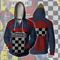 Game Borderlands Cosplay Costumes Zipper Hoodies Sweatshirts 3D Printing Unisex Adult Clothing