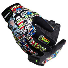 Brand Print Motorcycle Gloves Motocross Racing Gloves Motorbike Outdoors Ride Gloves off-road Protective Glove guantes luva moto