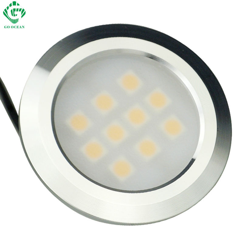 led cabinet lights 3w 220v 230v 240v super bright led under kitchen counter cupboard puck - Led Cabinet Lighting