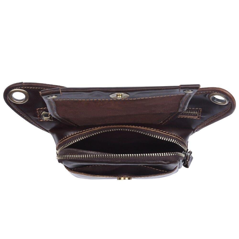 Мужские сумки на пояс из натуральной кожи, сумки мессенджеры через плечо, забавные Сумки на пояс, многофункциональные мужские сумки для путешествий, 6369 - 4