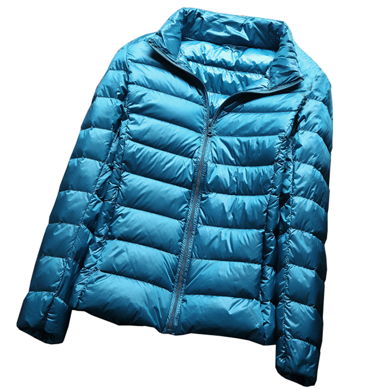 White Duck   Down   Jacket Autumn Winter pink Colors New Warm Slim Zipper 2017 Women Fashion Light   Down     Coat   plus size 3XL QH0958