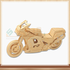 3D wooden motorbike jigsaw puzzle Motor wooden jigsaw puzzle toy IQ educational wooden toys for DIY handmade puzzles Engineering