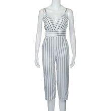 d783982e0a5 (Ship from US) Free Ostrich Summer Women Strap Vertical Striped Jumpsuit  Sleeveless Backless Long Jumpsuits overalls combinaison femme D1335