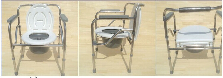 Folding Handicapped Bath Chair Disabled Toilet Potty Chair Height ...
