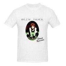Tops Summer Cool Funny T Shirt  Crew Neck Men Short-Sleeve Office Mylene Farmer Dance Remixes Tee милен фармер mylene farmer 5 on tour 2 cd