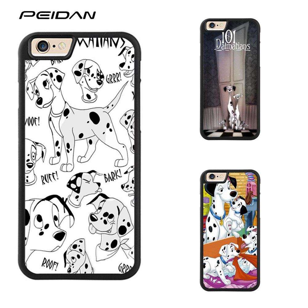 PEIDAN 101 Dalmatiens 11 Pleine couverture cas de téléphone portable pour iphone X 4 4S 5 5S 6 6 s 7 8 6 plus 6 s plus 7 plus 8 plus # ee01