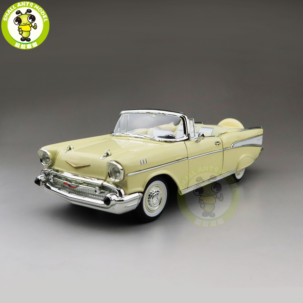 1/18 1957 Chevrolet BEL AIR Convertible Road Signature Diecast Model Car Toys Boys Girls Gift