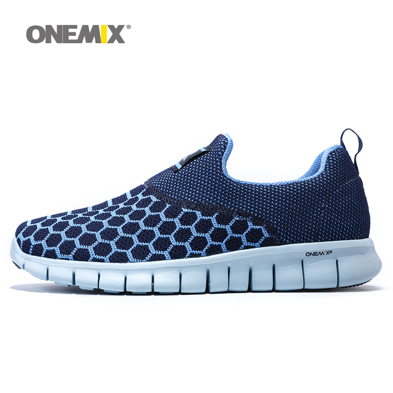 ФОТО Onemix 2016 mens running shoes breathable outdoor women walking shoes massage male sport sneakers light jogging shoes
