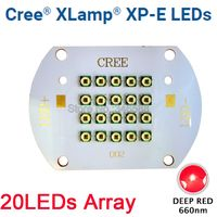 CREE XLamp XPE XP E 60W Deep Red 660nm Plant Grow LED Light Diode Emitter Light 20LED Multi Chip Array for Indoor Garden Plant