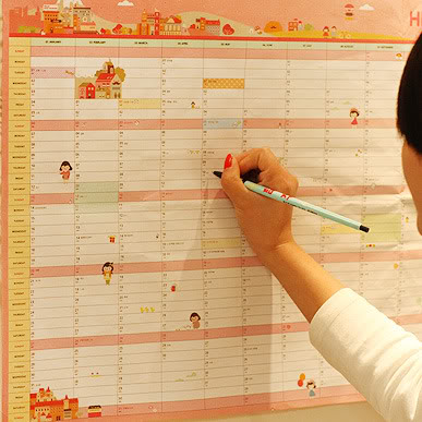 New Korean version of the 365 days work and study schedule Agenda Calendar