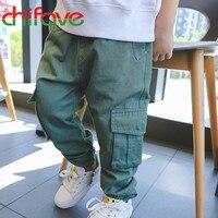 Chifave Baby Boys Pant Children Boys Cargo Pant Children Boys Clothes Elastic Waist Loose Solid Suit