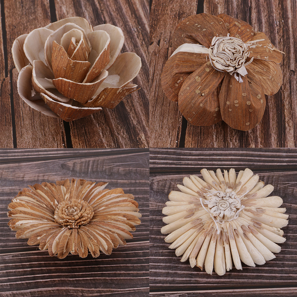 Natural Dried Flowers Fruits Rustic Floral Accents Home Table Decor Ornament