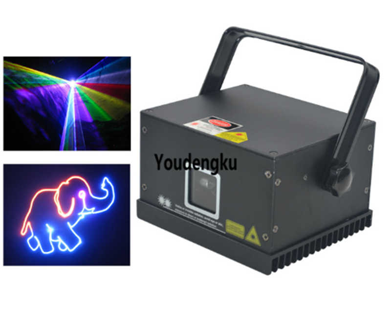 6 pieces 1000mw Home party decor mini animation full color laser show system laser light 1 watt dmx ilda rgb laser light