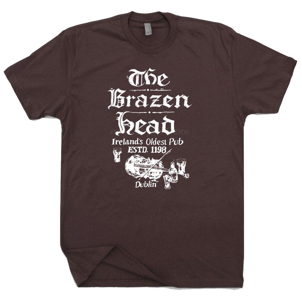 A Cabeça de Bronze e Dublin Na Irlanda Camiseta Hot diversão casual imprimir T-shirt dos homens T-shirt da forma dos homens de Alta qualidade t-shirt do verão