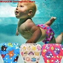 Детские купальные плавки с милым рисунком для маленьких мальчиков и девочек, герметичный многоразовый Регулируемый купальник для мальчиков и девочек