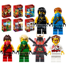 6pcs lot New Original Ninja Figures Ninja KAI JAY COLE ZANE Lloyd WU Minifigures With Weapons