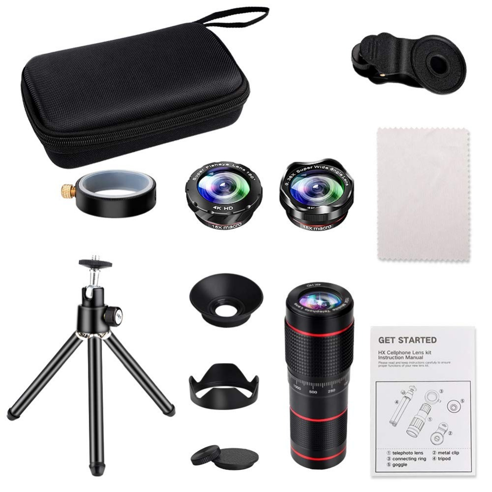15X iPhone Camera Telephoto Lens kit Double Regulation Lens Attachment with Tripod and Universal Clip Compatible with iPhone samsung 6