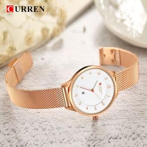 Image 4 - Curren Watch Blue Gold Women Watches Analog Quartz Ultra thin Stainless Steel Sport Women Watches Waterproof Ladies Watch Saat