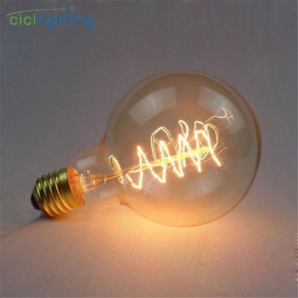 vintage lamp E27 retro lamp 220V G95 Spiral edison bulb for home/bedroom/living room decor 40W incandescent bulb