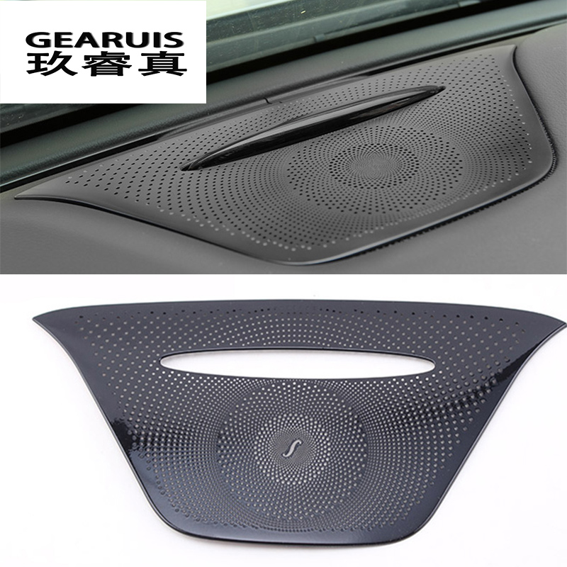 Car-styling Hi-End Audio Speaker For Mercedes Benz GLA X156 CLA C117 A Class Dashboard Loudspeaker Interior Stickers Cover Trim
