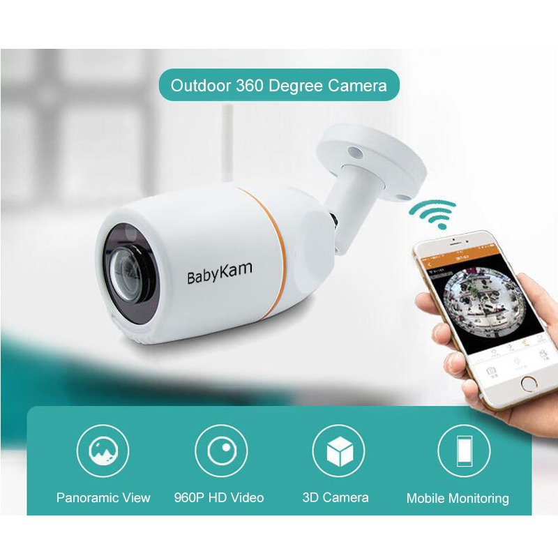 BabyKam Outdoor 360 Degree Camera VR Panoramic HD 960P Wireless Wifi IP Cam Fisheye 1.44mm Wi-Fi Cameras Surveillance CCTV CamBabyKam Outdoor 360 Degree Camera VR Panoramic HD 960P Wireless Wifi IP Cam Fisheye 1.44mm Wi-Fi Cameras Surveillance CCTV Cam