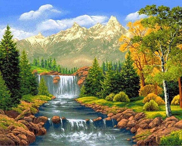 Aliexpress Com Buy 5d Diamond Embroidery Landscape