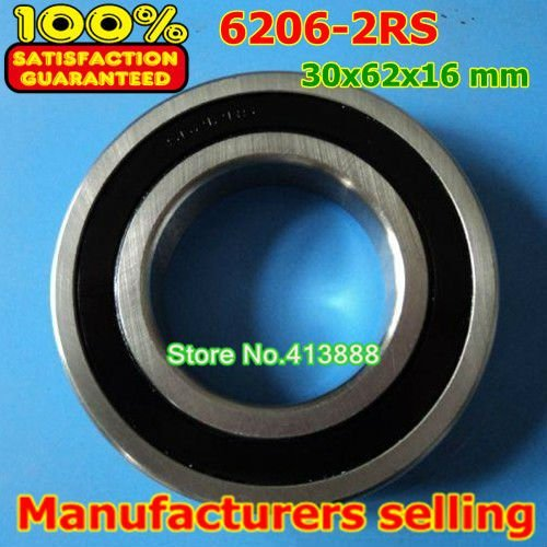 4pcs free shipping double Rubber sealing cover deep groove ball bearing 6206-2RS 30*62*16 mm
