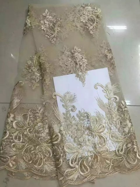 Aliexpress.com : Buy Newest gold color embroidery chemical guipure ...