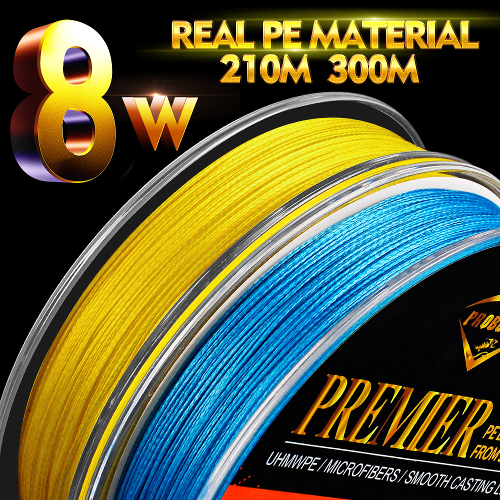 Proberos Fishline 8 Weaves Fishing Line 137M&210M&300M&500M 8 Braided Line Available 40-150LB PE Line Green/Grey/Blue/Yellow/Red