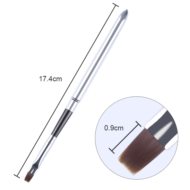 Dual Head Nail Art Brush Pen UV Poly Extension Gel Builder Removal Drawing Pen Brush Removal Spatula Stick Manicure Too