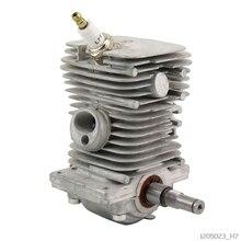 Cilindro de Motor de 38mm, pistón, cigüeñal, bandeja de montaje herramientas eléctricas de jardín, piezas para MS170 MS180 018