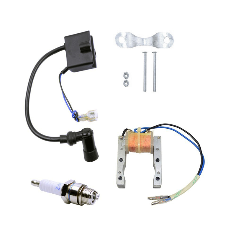Ignition Coil scooter Replacement Motor Motorcycle Scooter Racing Bicycle Spark Plug for Motorized 49cc 66cc 80cc Engine