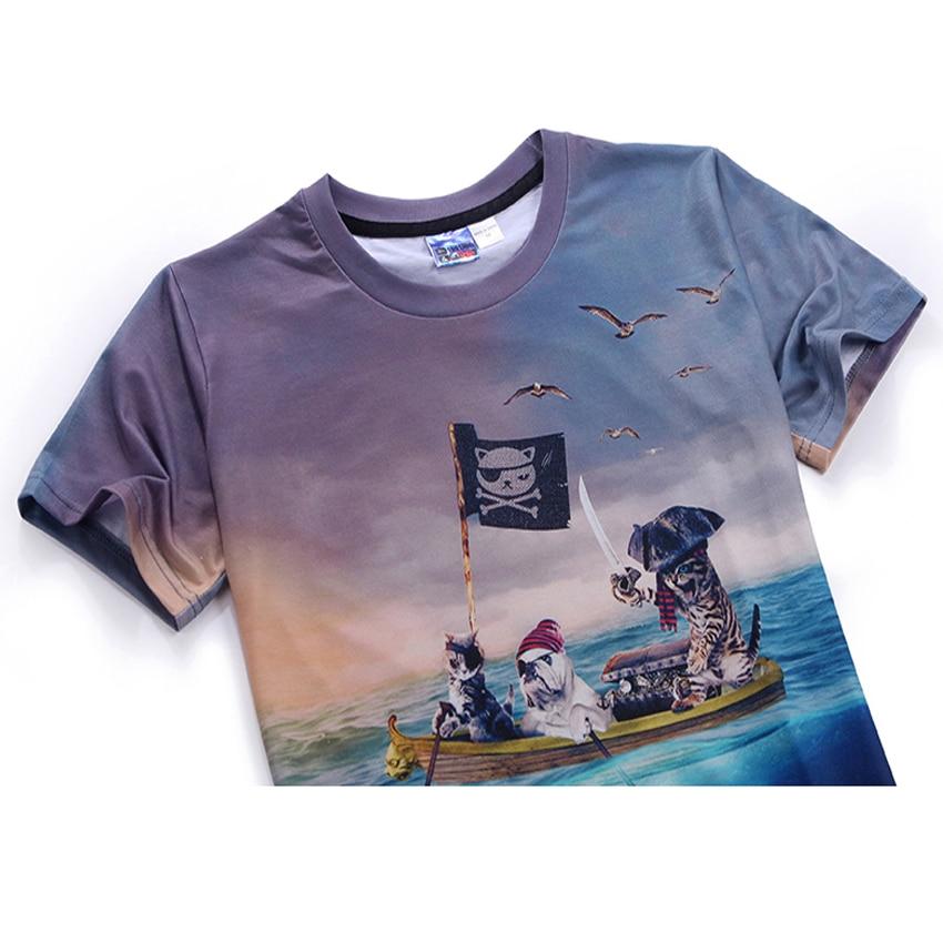 Mr.1991 brand Pirate Cat 3D T-Shirt für Jungen und Mädchen Neue - Kinderkleidung - Foto 3