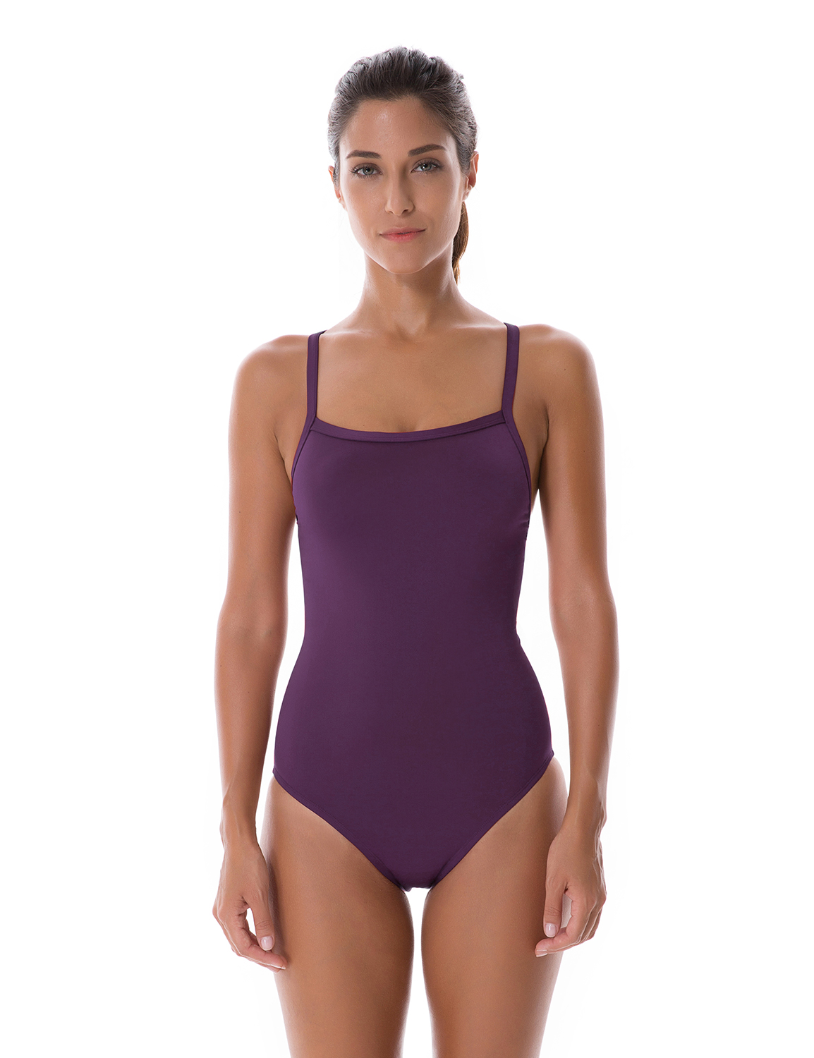 Women's Sleek Solid Elite Training Suit with Cups Padded Sporty Athletic One Piece Swimsuit sport elite se 2450